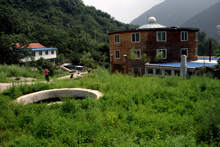 A view of part of the village of Sancha, Beijing Hikers SanchaValley, August6, 2011