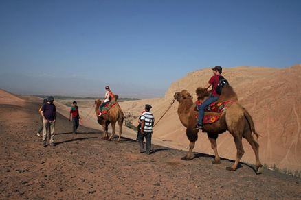 Some rode camels, Beijing Hikers JourneyFromWest,October01, 2011