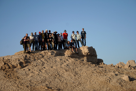 a group shot, Beijing Hikers JourneyFromWest,October01, 2011