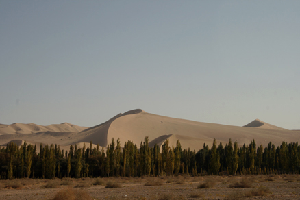 a bit of hiking over the sand dunes, Beijing Hikers JourneyFromWest,October01, 2011