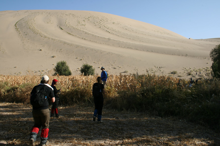 the dunes, Beijing Hikers JourneyFromWest,October01, 2011