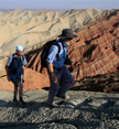 Hikers in Zhangye