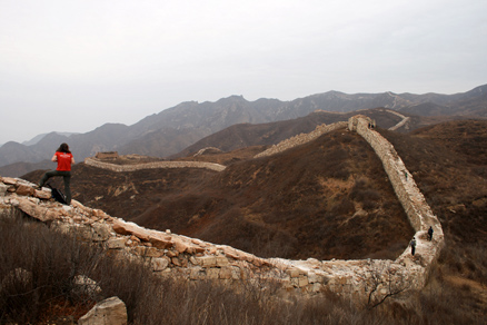 large stones, Beijing Hikers Yanqing GreatWall, November05, 2011
