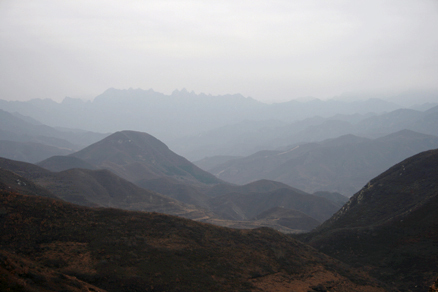 the distinctive peaks of Bijiashan, Beijing Hikers Yanqing GreatWall, November05, 2011