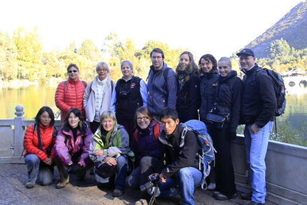 The hiking group, Beijing Hikers Lijiang and Shangri-La,November, 2011