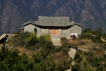 a hilltop temple, Beijing Hikers Lijiang and Shangri-La,November, 2011