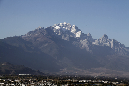 Another angle of Jade Dragon Mountain, Beijing Hikers Lijiang and Shangri-La,November, 2011