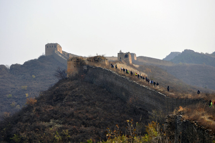 Great Wall towers, Beijing Hikers Gubeikou GreatWall Loop Midweek, November02, 2011