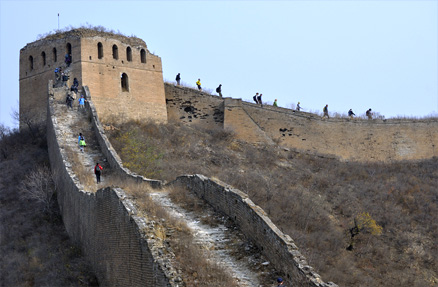 some fairly steep sections, Beijing Hikers Gubeikou GreatWall Loop Midweek, November02, 2011
