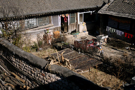 a traditional style Chinese home, Beijing Hikers Zhuangdaokou to the Walled Village, November13, 2011