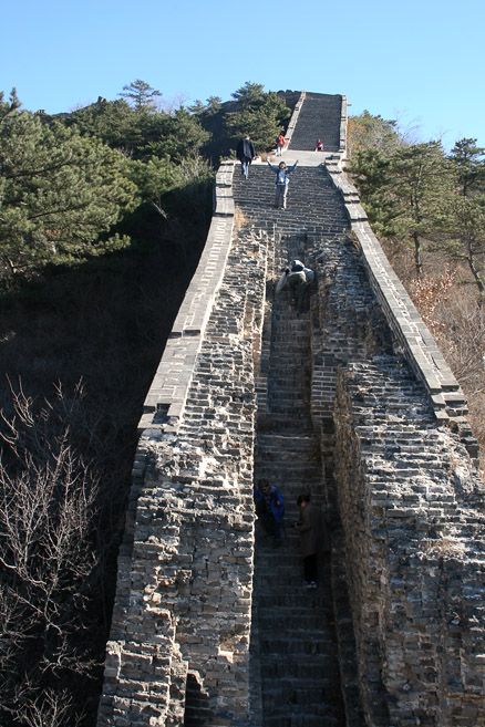 some very steep sections of Great Wall, Beijing Hikers Zhuangdaokou to the Walled Village, November13, 2011