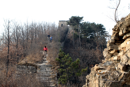 The parts of the Huanghuacheng Great Wall, Beijing Hikers Huanghuacheng GreatWall, November16, 2011