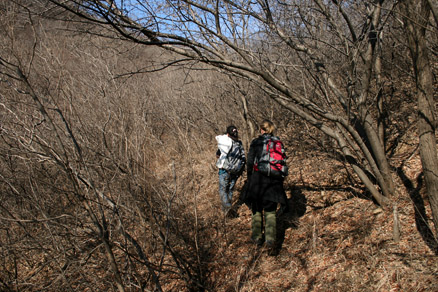 any orchards of farmland deeper , Beijing Hikers BigBlackMountain, November20, 2011