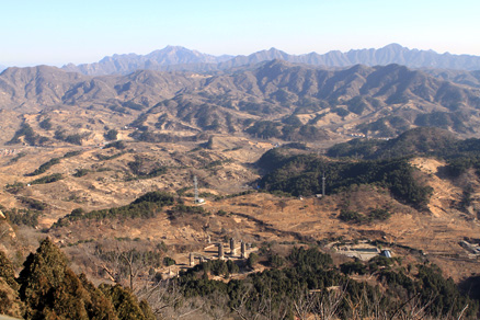 A broad view of the countryside, Beijing Hikers Gubeikou GreatWall Loop Midweek, November02, 2011