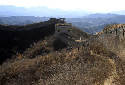 a military area, Beijing Hikers Gubeikou GreatWall Loop Midweek, November02, 2011