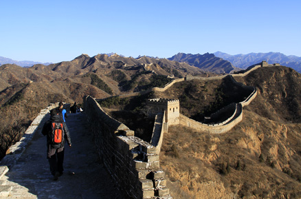 a restored section, Beijing Hikers Gubeikou GreatWall Loop Midweek, November02, 2011