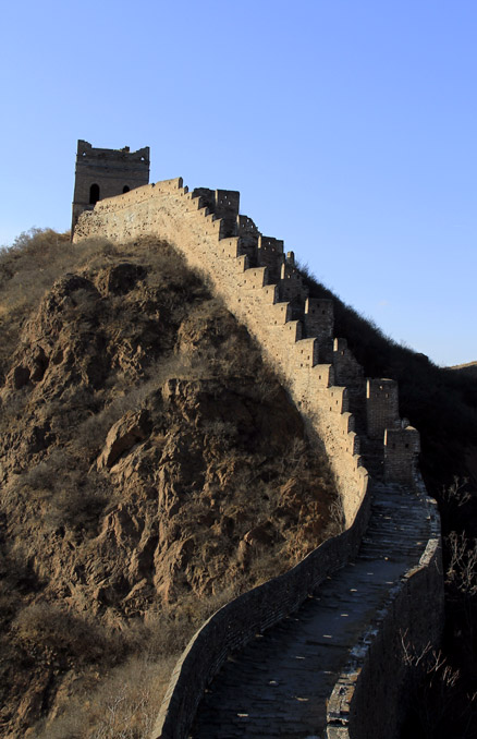 the parapets, Beijing Hikers Gubeikou GreatWall Loop Midweek, November02, 2011