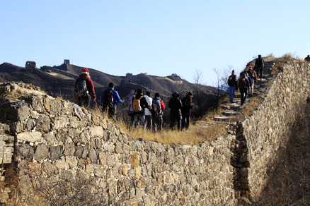 the tall tower, Beijing Hikers Gubeikou GreatWall Loop Midweek, November02, 2011