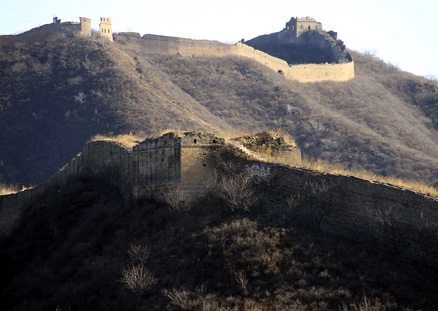 a big tower, Beijing Hikers Gubeikou GreatWall Loop Midweek, November02, 2011