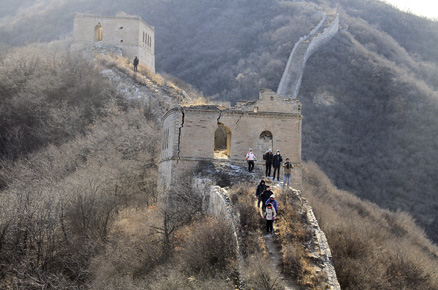 These two towers, Beijing Hikers Middle Route of Switchback Great Wall, February04,2012