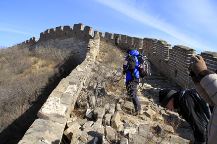 Some of the wall, Beijing Hikers Middle Route of Switchback Great Wall, February04,2012