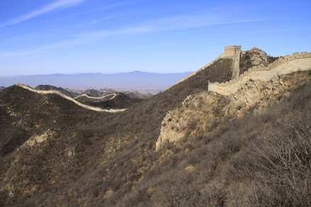 followed the wall, Beijing Hikers Middle Route of Switchback Great Wall, February04,2012