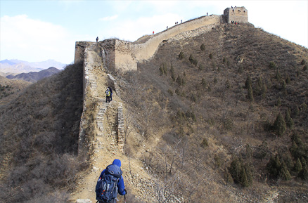 The restored Great Wall, Beijing Hikers Gubeikou GreatWall, March10, 2012