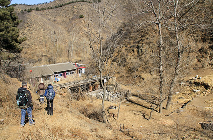 the local guesthouse, Beijing Hikers Gubeikou GreatWall, March10, 2012