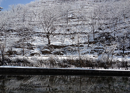 The winter landscape, Beijing Hikers GreatWallSpur, March18, 2011
