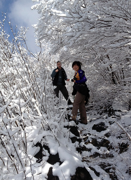the snowy forest, Beijing Hikers GreatWallSpur, March18, 2011