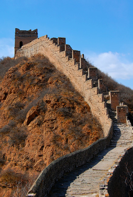 This stretch of wall shows crenellations and ramparts, Beijing Hikers Gubeikou to Jinshanling Great Wall, March24, 2012
