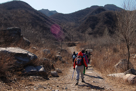 the back mountain, Beijing Hikers Chang Yucheng 'Long valley city', March31,2012