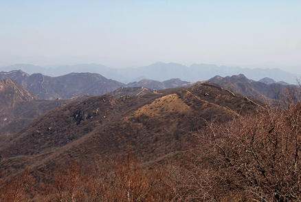 the Great Wall, Beijing Hikers Chang Yucheng 'Long valley city',March31,2012