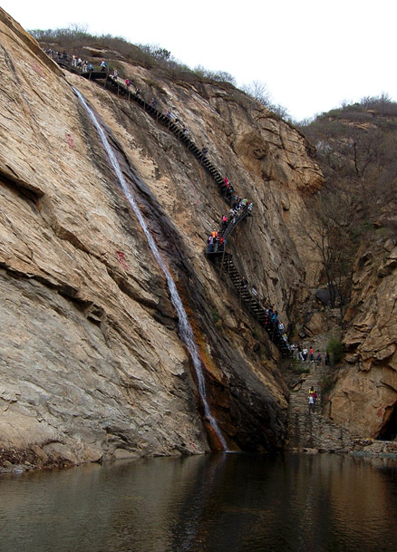 the grafted steel steps, Beijing Hikers Immotal Vally, April15, 2012