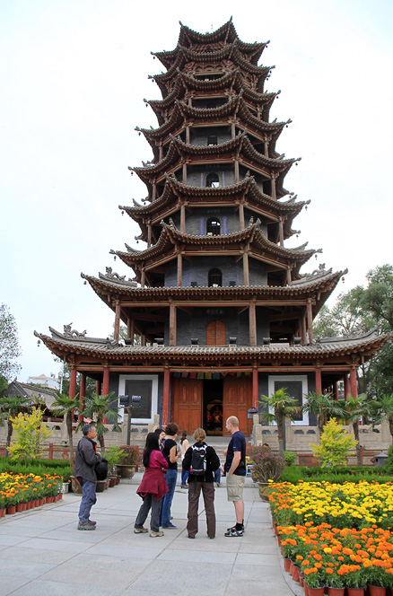 A huge pagoda, Beijing Hikers Zhangye, May, 2012