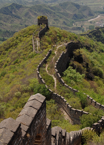 The windy Great Wall, Beijing Hikers GreatWall Spur, May02, 2012
