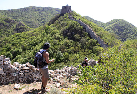 A rare flat section, Beijing Hikers Switchback Great Wall, May05, 2012