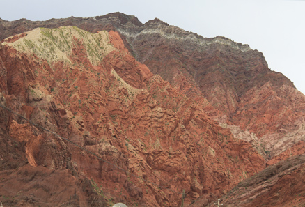 Danxia landform, Beijing Hikers Kashgar and Lake Karakul, 2012/07