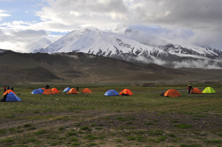 Our first came site, Beijing Hikers Kashgar and Lake Karakul, 2012/07