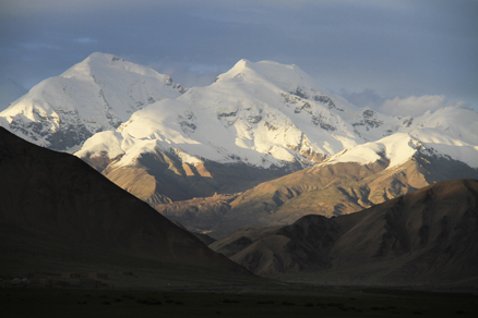 Beautiful Sun set, Beijing Hikers Kashgar and Lake Karakul, 2012/07