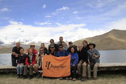 Group photo, Beijing Hikers Kashgar and Lake Karakul, 2012/07