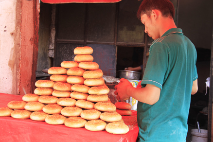 Local Nang bread shop, Beijing Hikers Kashgar and Lake Karakul, 2012/07