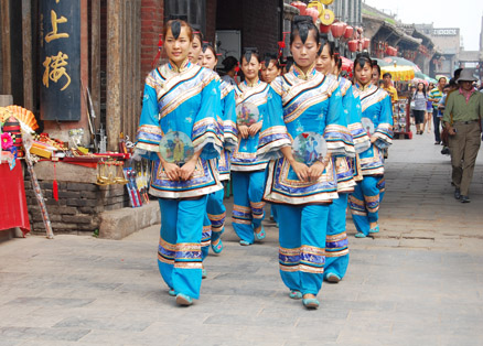 A local dancing team, Beijing Hikers Pingyao trip, August10, 2012