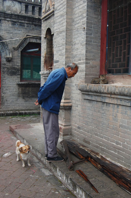 The caretaker, Beijing Hikers Pingyao trip, August10, 2012