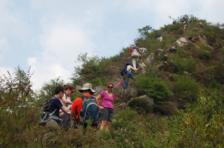 a steep ridge, Beijing Hikers Ming Village Overnight,September22, 2012