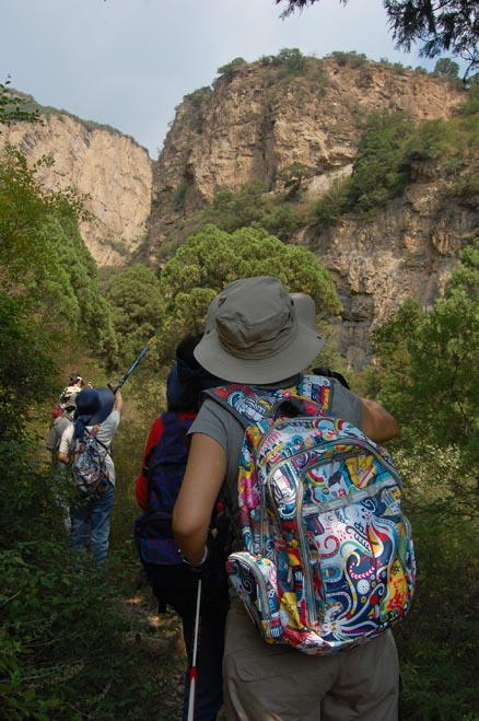Something spotted in the cliffs!, Beijing Hikers Ming Village Overnight,September22, 2012