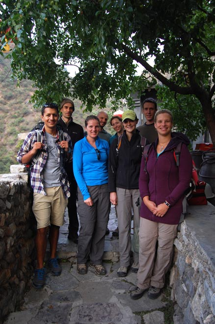 a group shot, Beijing Hikers Ming Village Overnight,September22, 2012