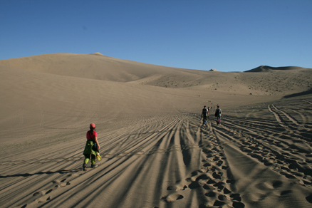The sand dunes on this side, Beijing Hikers Journey from the West October, 2012