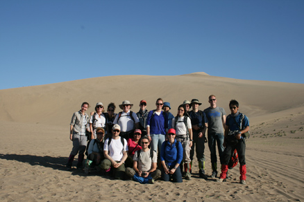 the top of the dunes, Beijing Hikers Journey from the West October, 2012