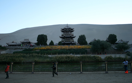 The temple at Crescent Lake., Beijing Hikers Journey from the West October, 2012